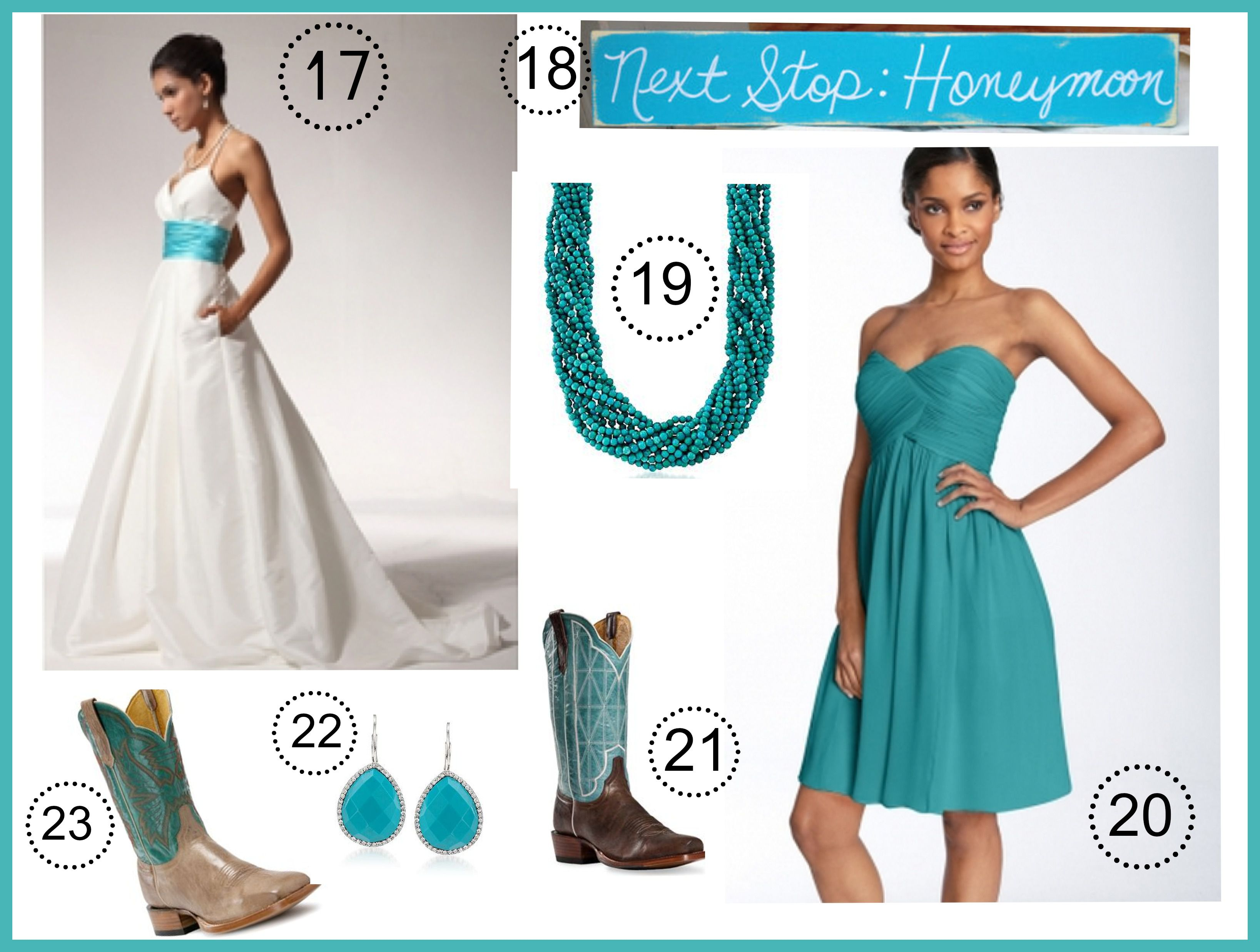 Turquoise Wedding Color Theme - Rustic Wedding Chic