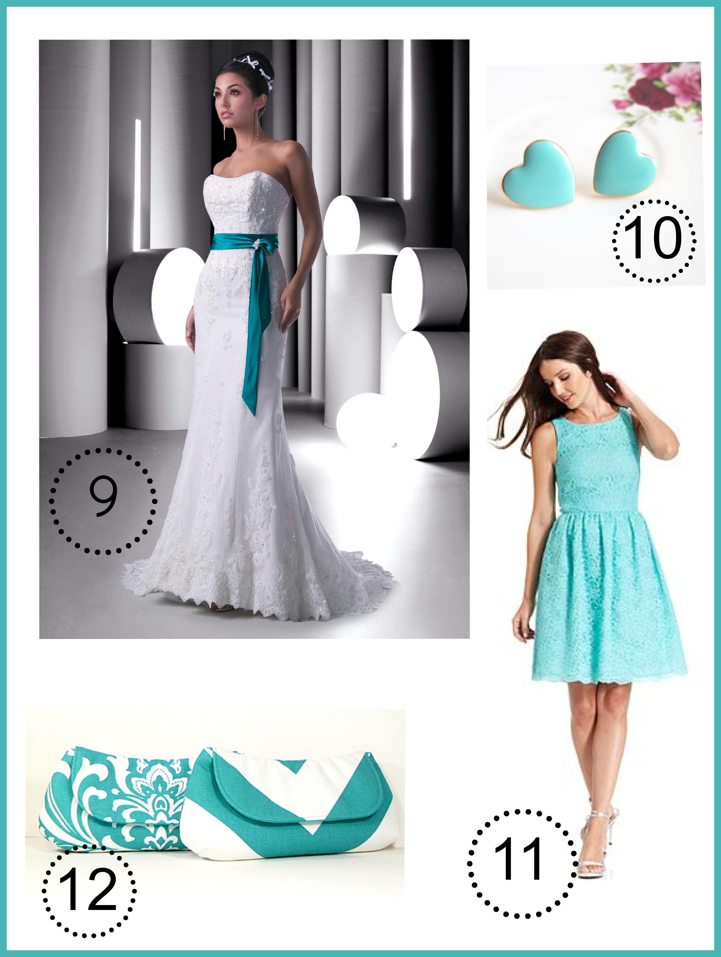 Turquoise Wedding Color Theme - Rustic Wedding Chic