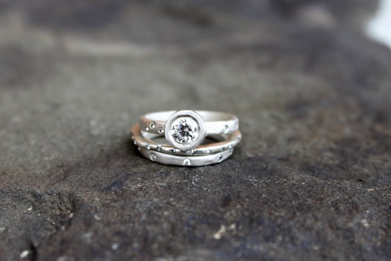 Rustic Style Wedding Rings By Saundra Messinger Rustic