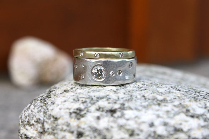 band set embossed hers promise rings sterling rustic wedding wide his engagement media and silver paisley ring wdding