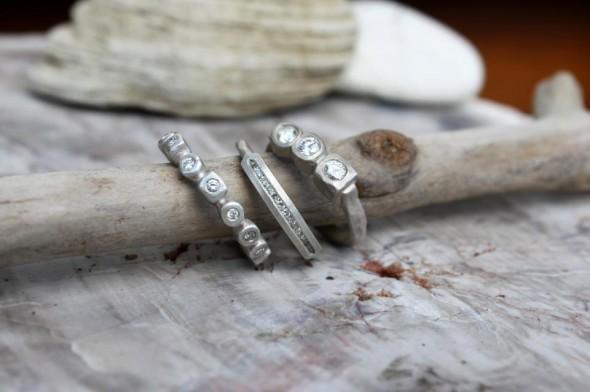 Rustic Style Wedding Rings