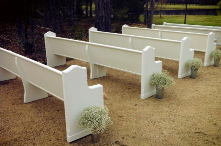 Find Out Where To Rent Church Pews For An Outdoor Wedding