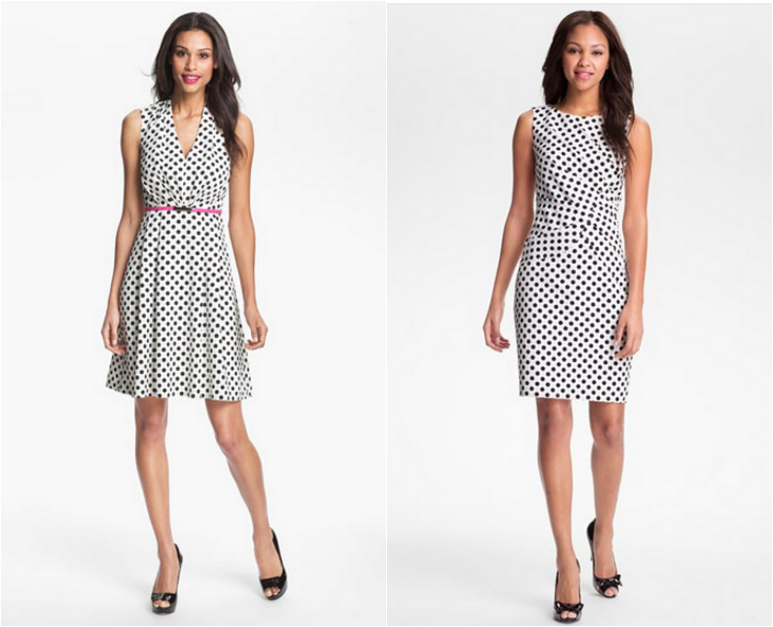 Polka dot dresses come in a variety of styles. From short, casual frocks to knee-length party and cocktail dresses, there's something for every preference. The sizes of .