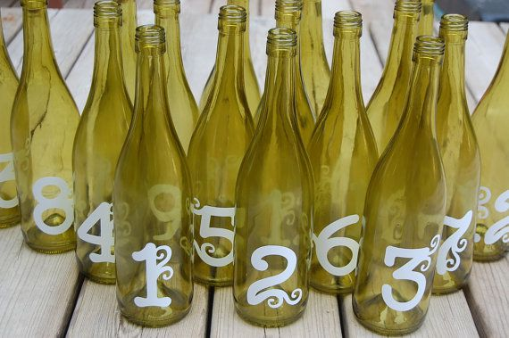 Where to find bottle table numbers for your wedding