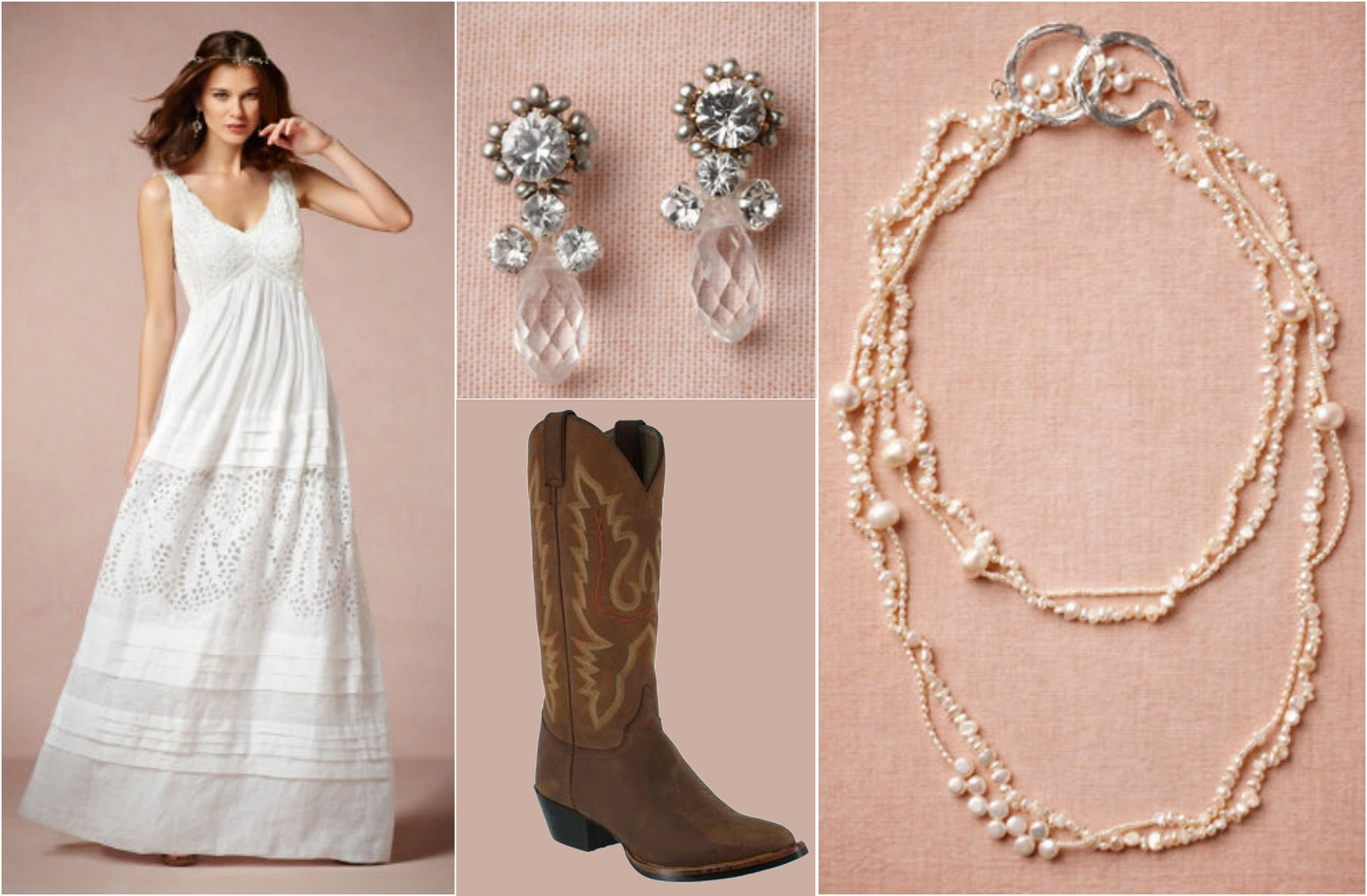 Ask Maggie: Wedding Dress With Cowboy Boots - Rustic Wedding Chic