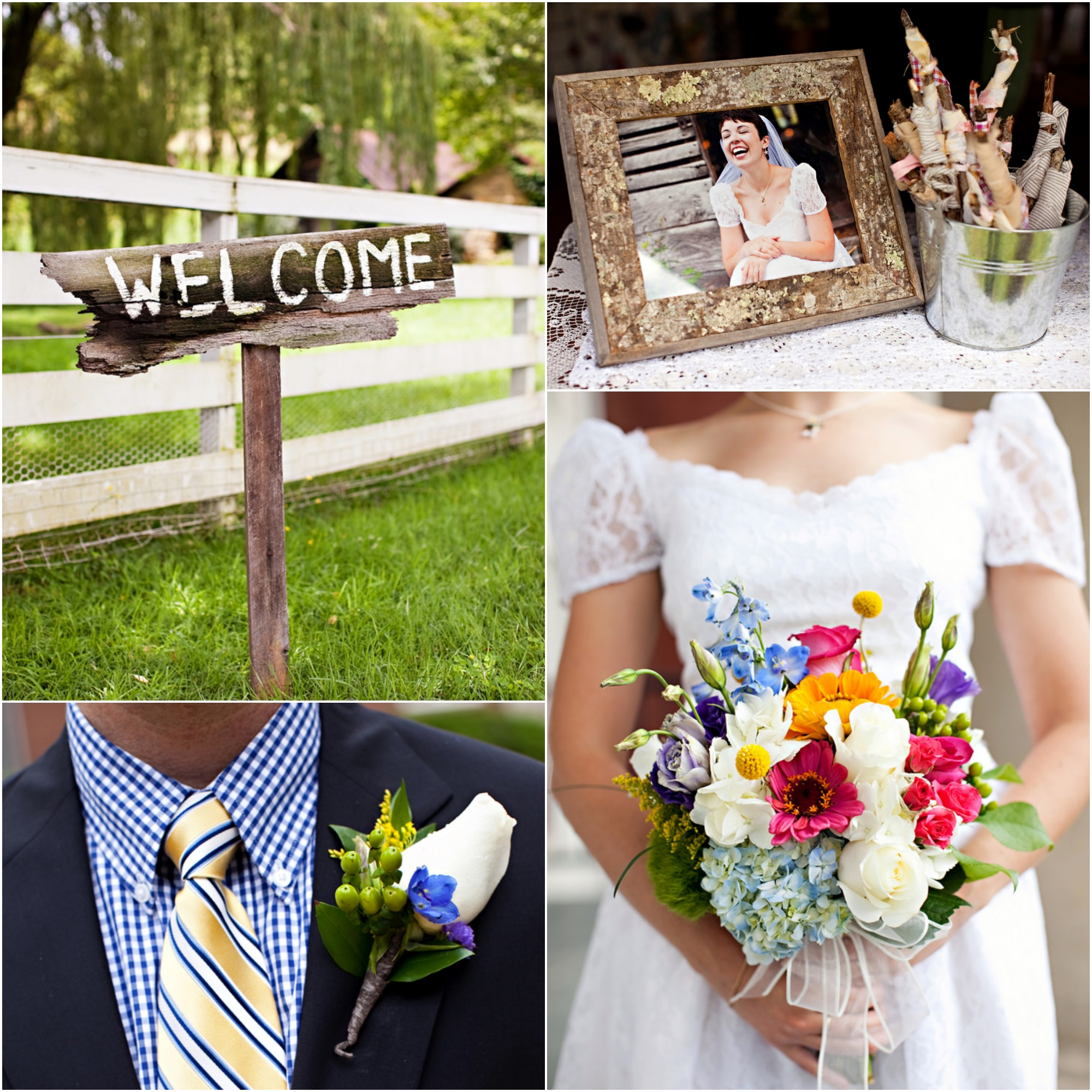 Cute Rustic Wedding Ideas: Wedding At Apple Hills Farm North Carolina