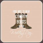 All the best ways how to wear cowboy boots on your wedding day.