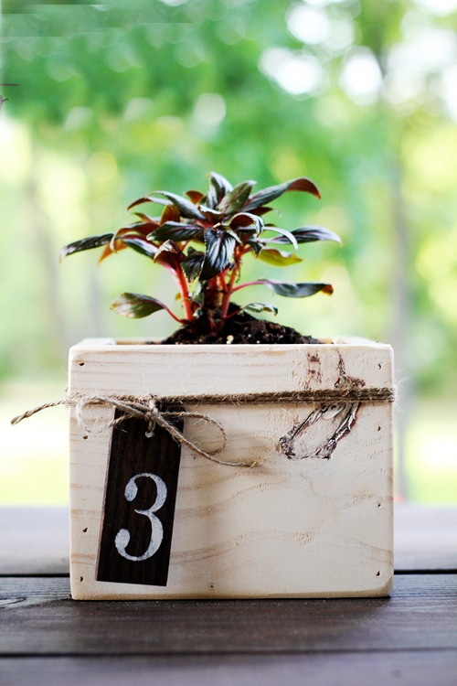 Diy planter box centerpieces rustic wedding chic