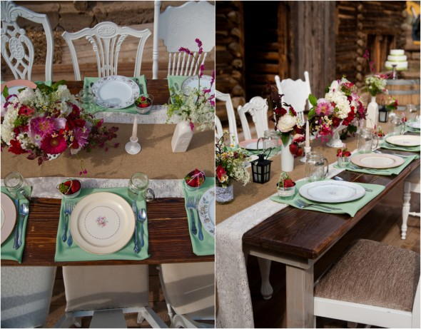 Farm Table At Wedding