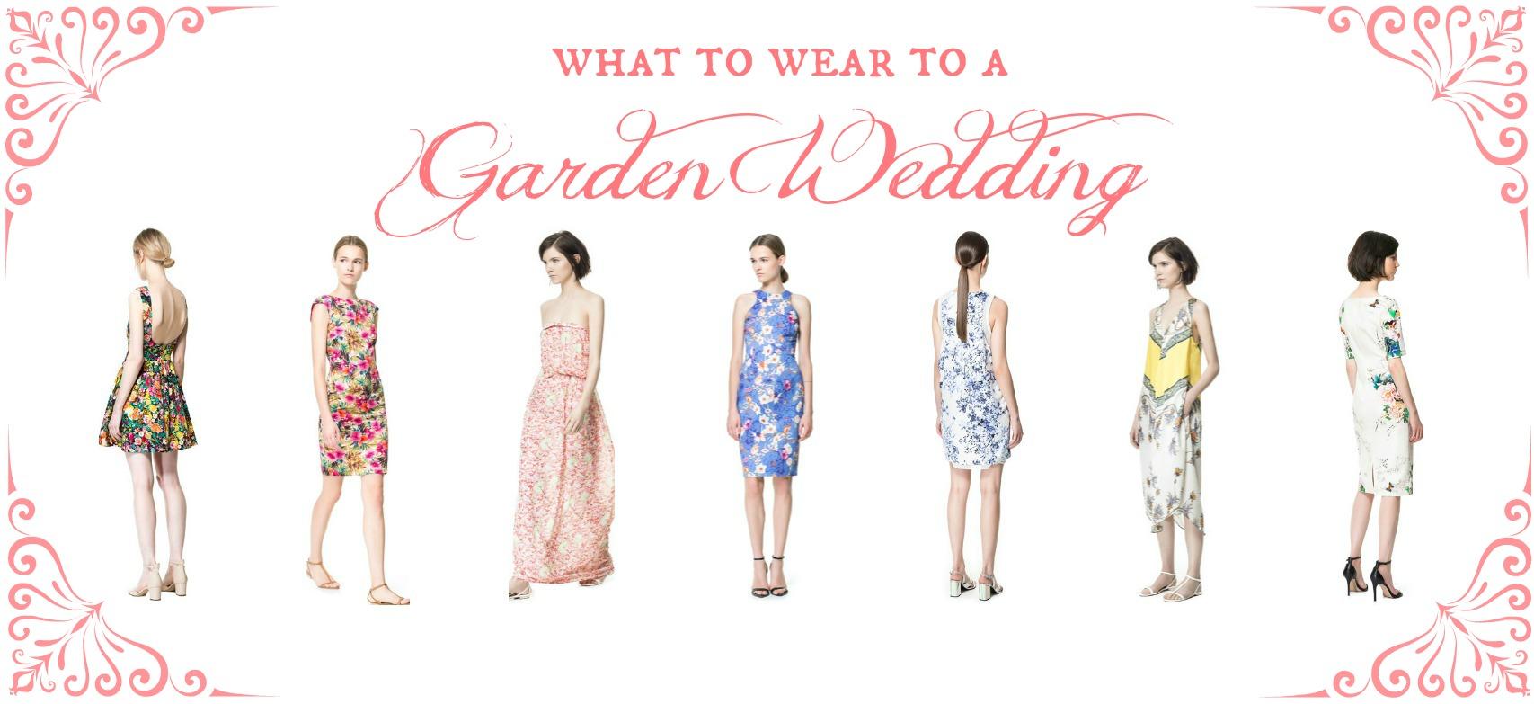 What to Wear to A Garden Wedding | Zara Floral Dress