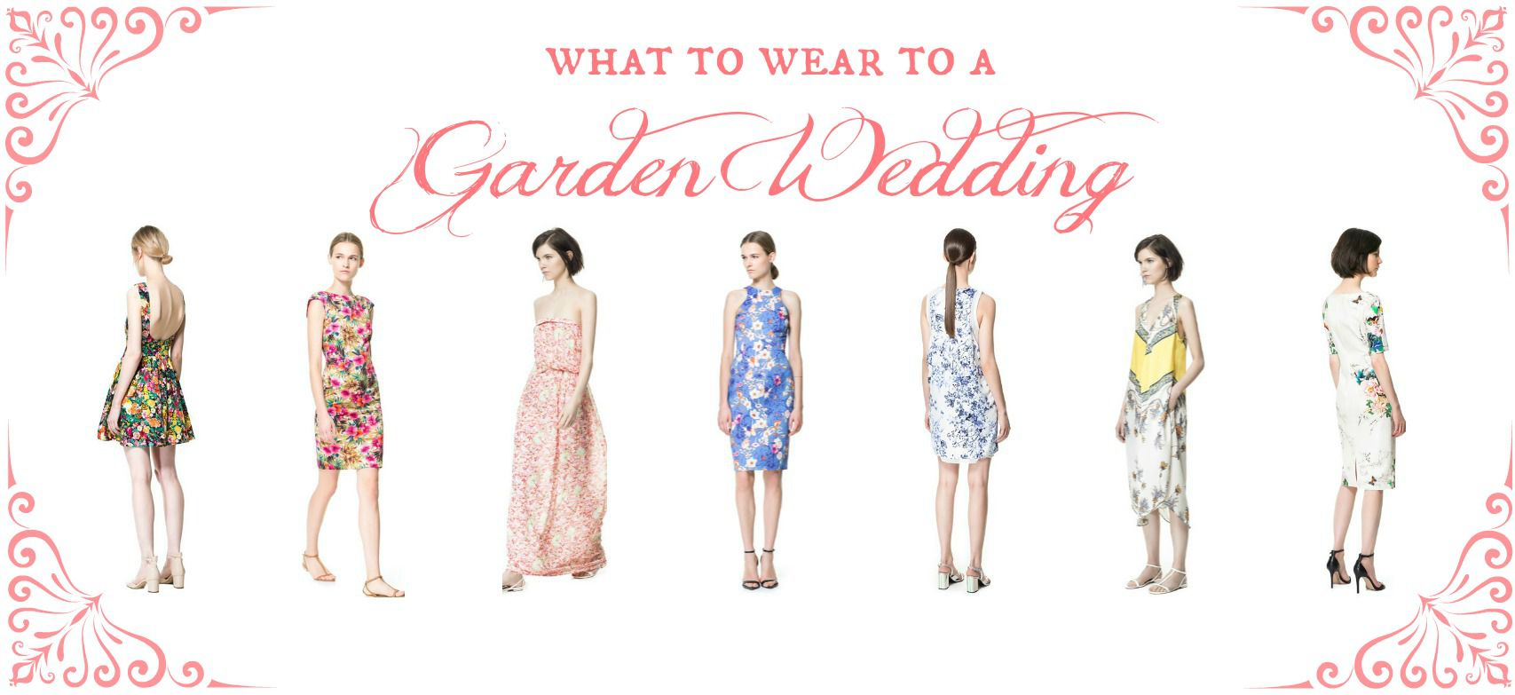 What to Wear to A Garden Wedding | Zara Floral Dress