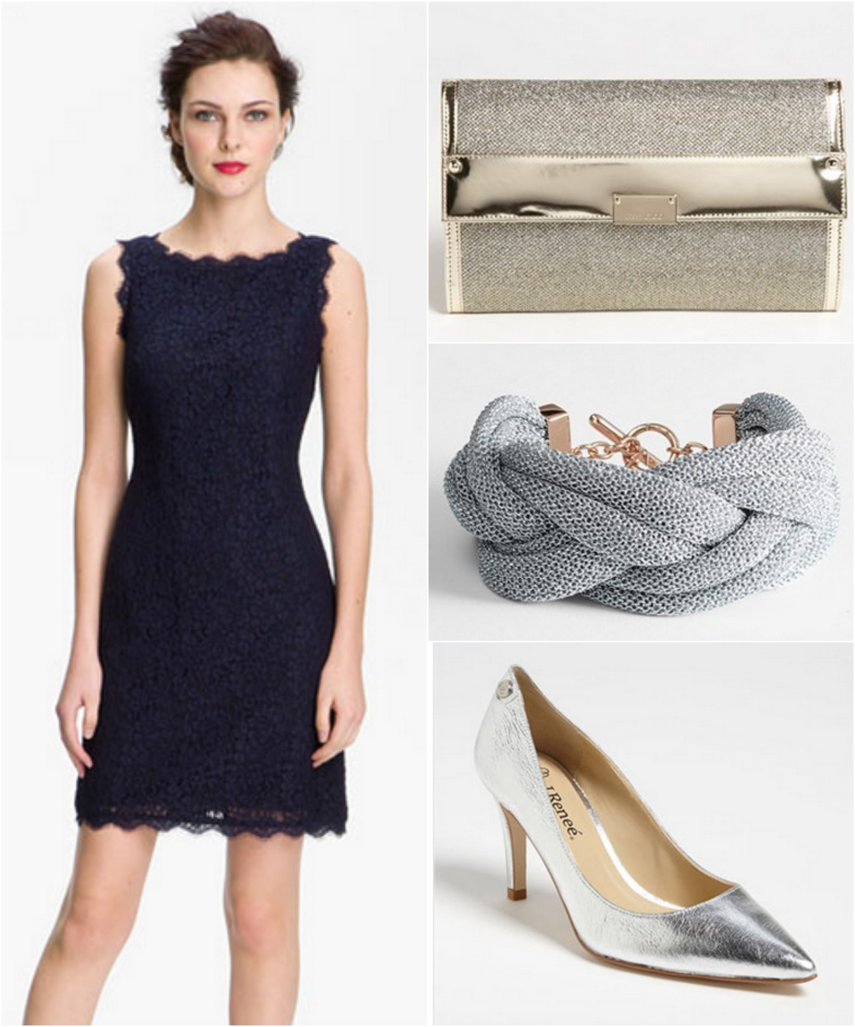 4 ways to wear a bridesmaid dress rustic wedding chic for What colour shoes with navy dress for wedding