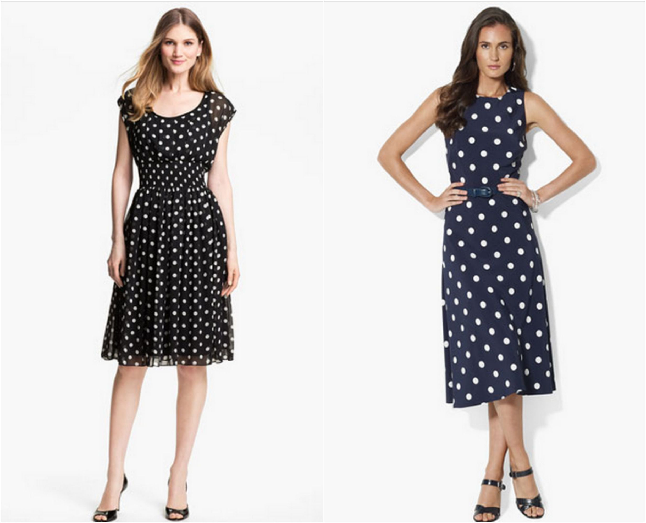 Polka Dot Bridesmaid Dresses - Rustic Wedding Chic