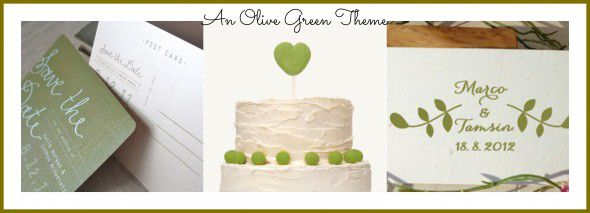 Olive Green Theme Wedding