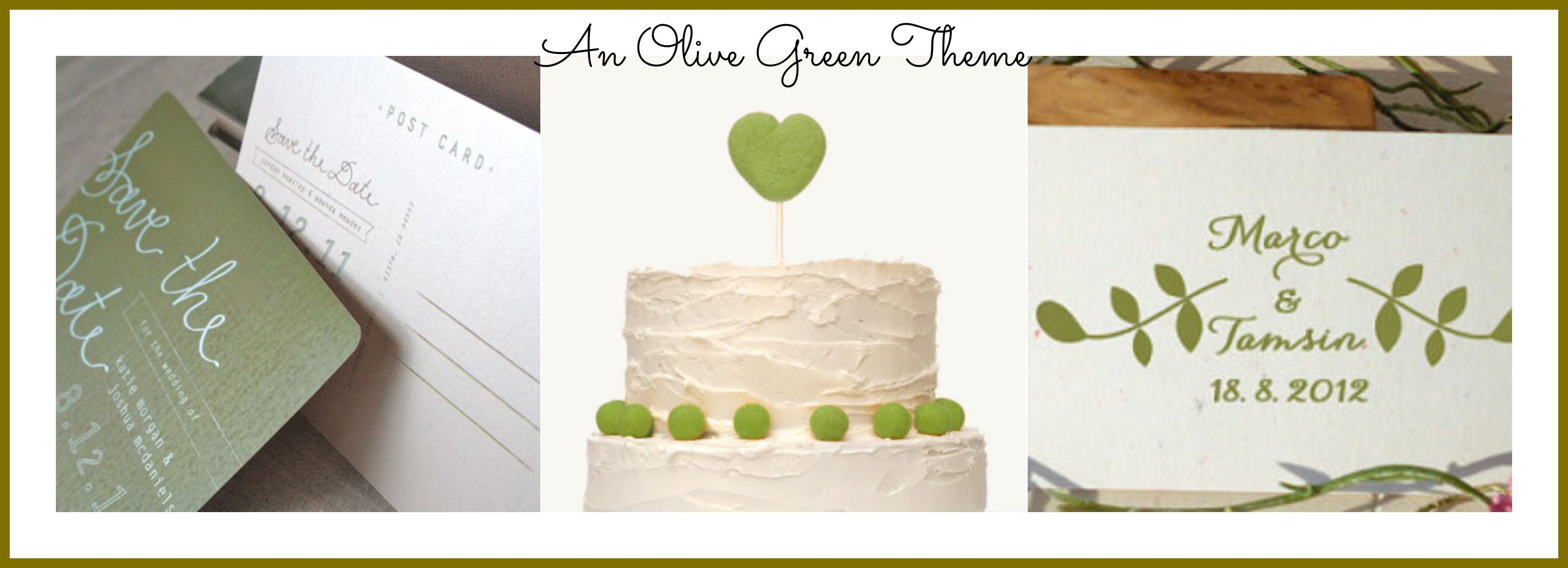 Ideas For An Olive Green Wedding - Rustic Wedding Chic