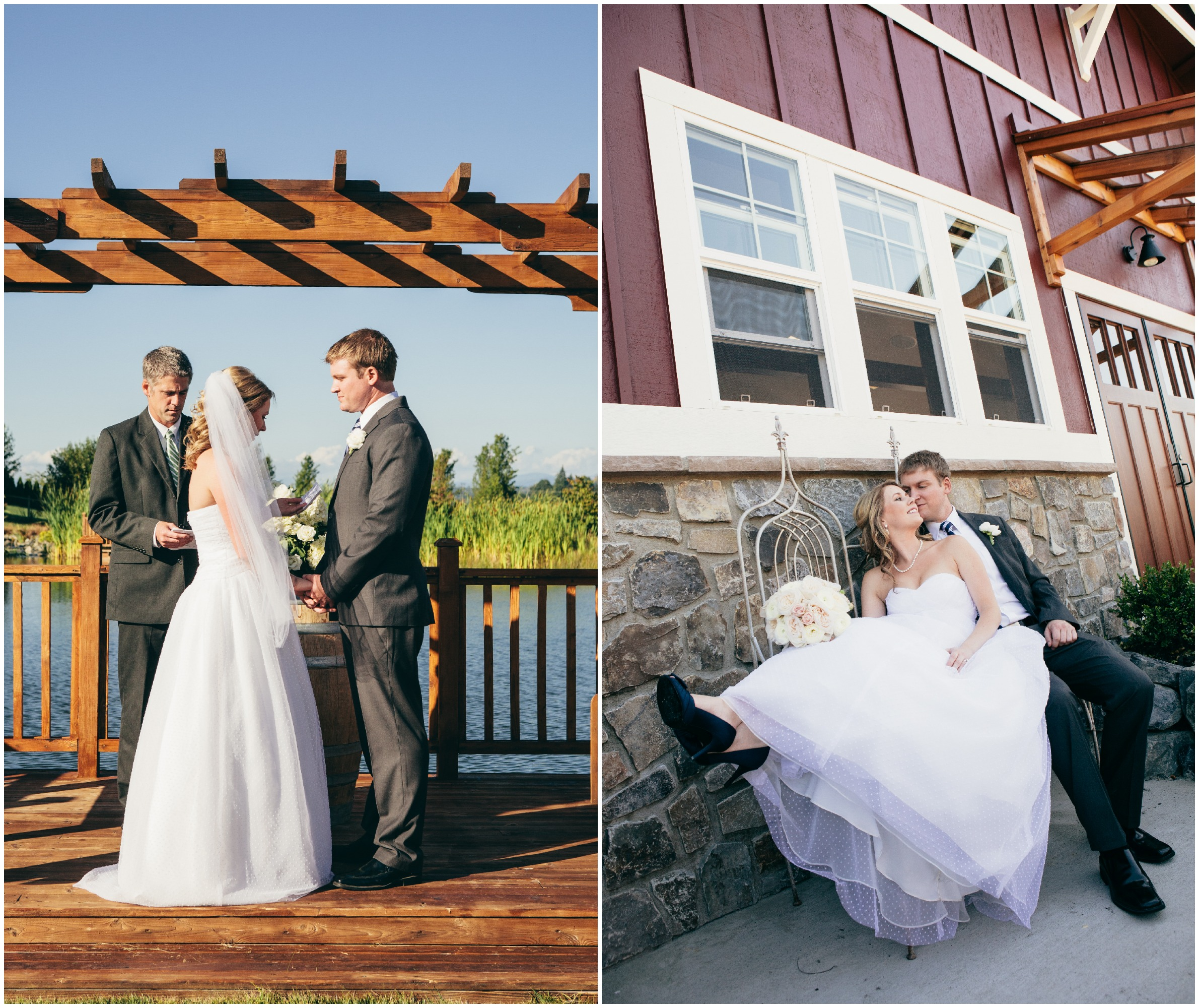 Outdoor Wedding Ceremony: Washington State Rustic Wedding