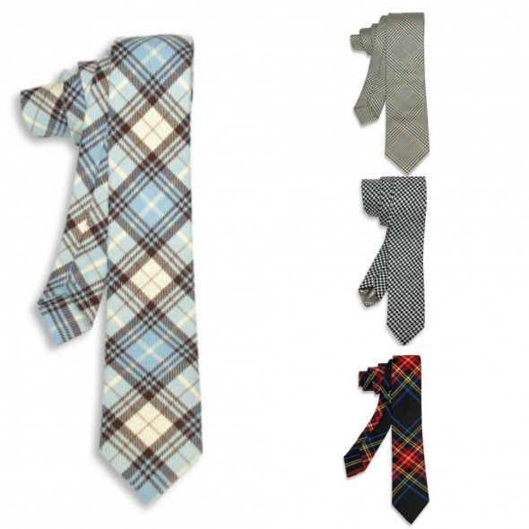 Where to find plaid rustic wedding ties