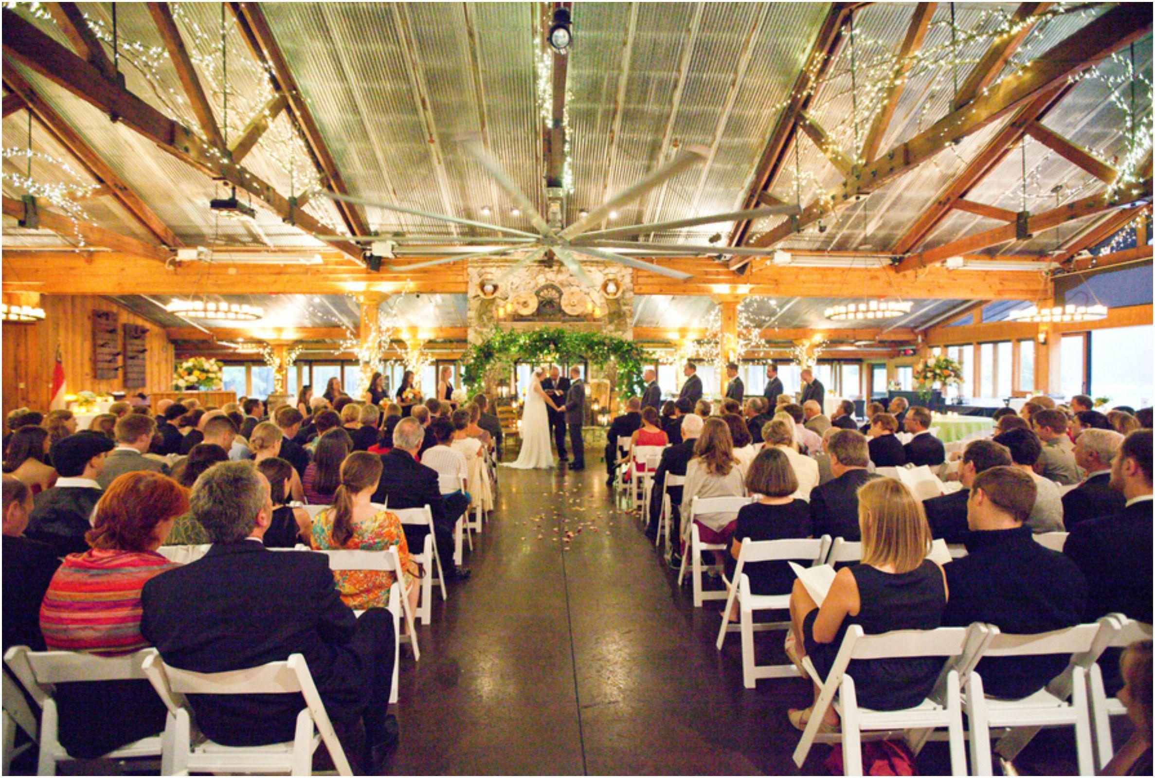 An Indoor Rustic Ceremony: Rainy Day Ranch Wedding