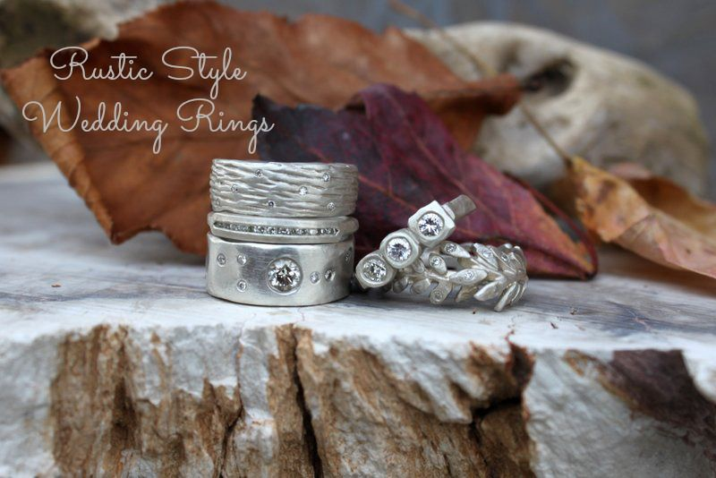 Rustic Style Wedding Rings By Saundra Messinger Rustic Wedding Chic