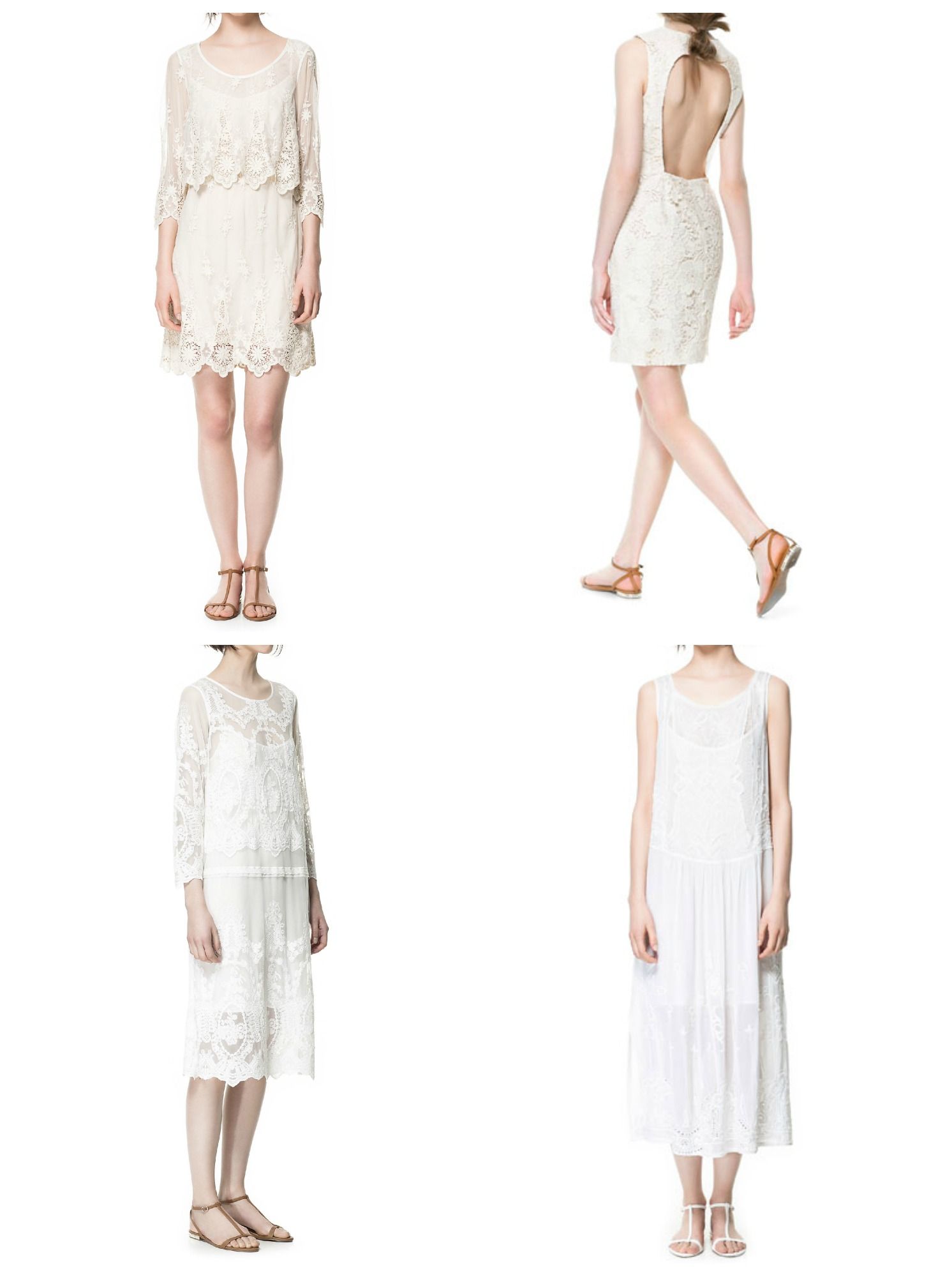 Zara Bridal Short Wedding Dresses 28