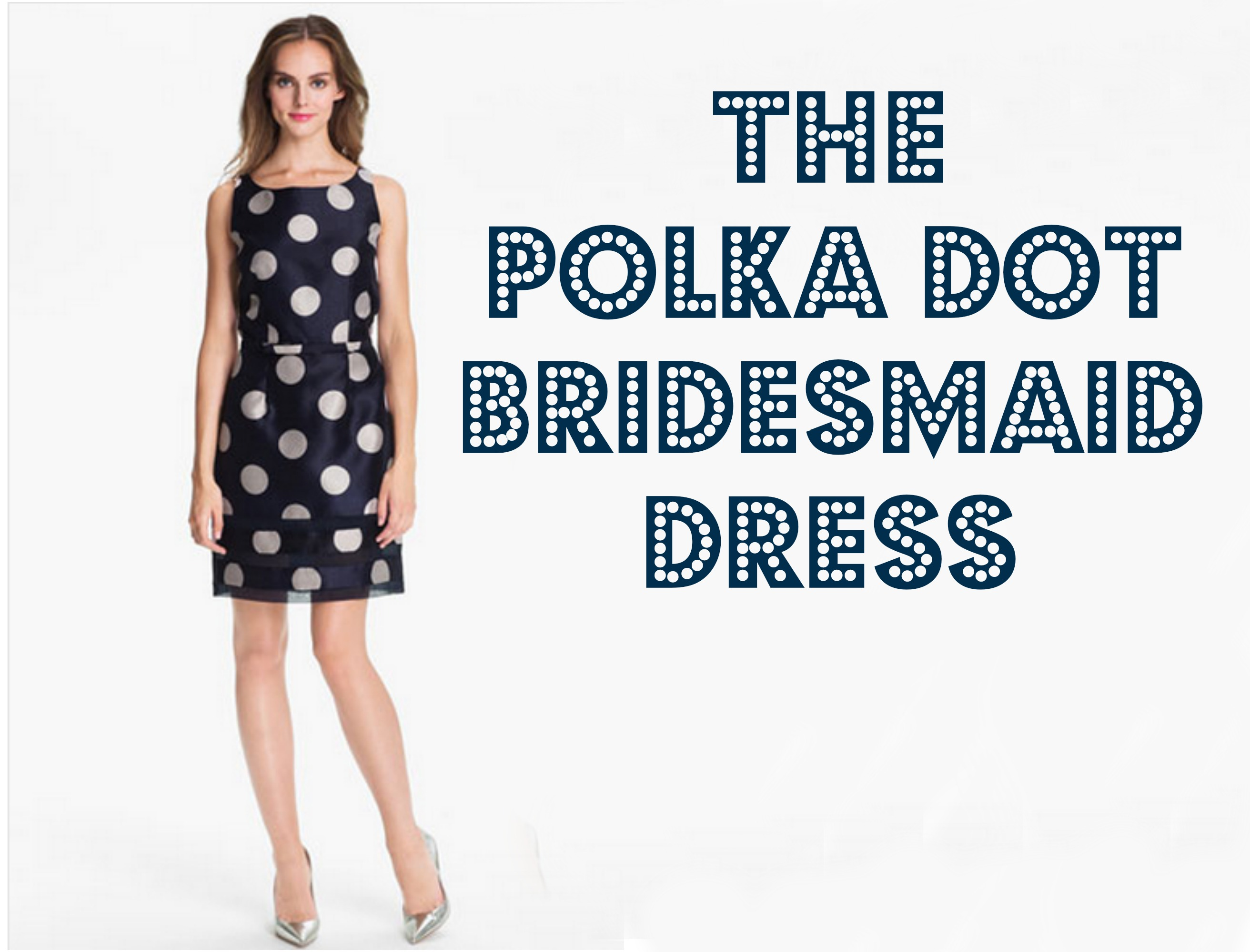 That's why I think that polka dot dresses are and I think that black and white color with red Your article on 38 Chic Polka Dot Bridesmaids??? Dresses.