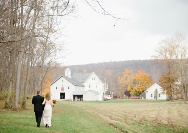 vintage farmhouse fall bride groom