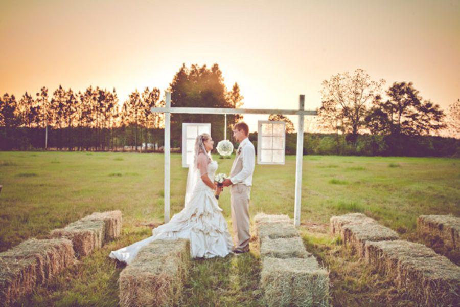 Burlap Inspired Country Wedding Trudie Robbie
