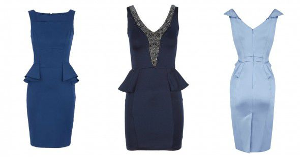 What to Wear to a Country Wedding | Blue Peplum Dresses