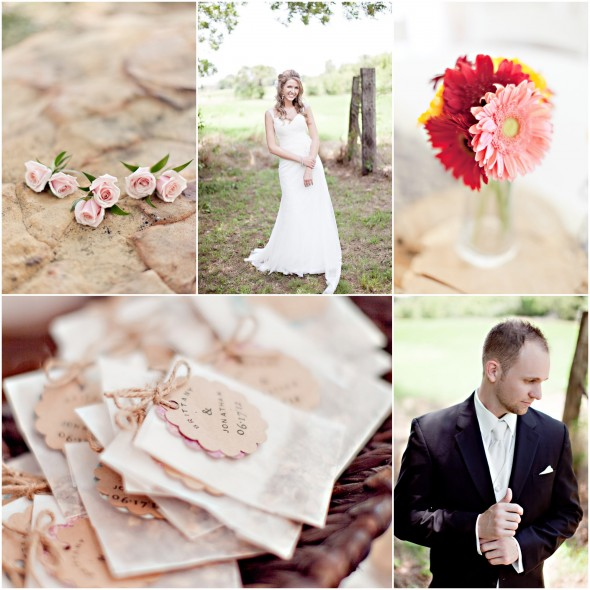 Burlap Lace Wedding