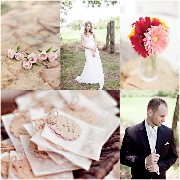 Burlap Lace Wedding