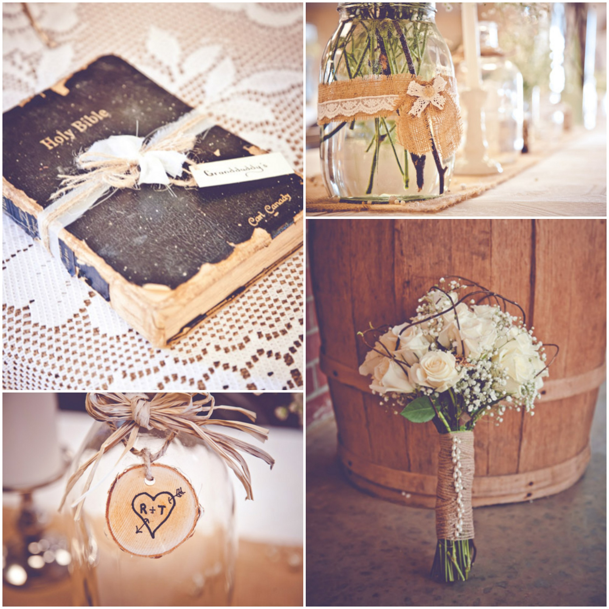 burlap inspired country wedding trudie robbie rustic