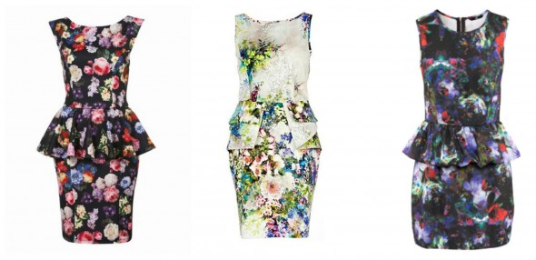 What to Wear to a Country Wedding | Floral Peplum Dresses