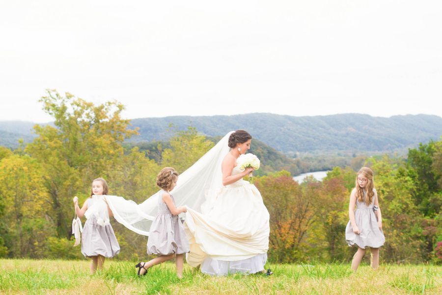 Mountain Wedding | Flower Girls