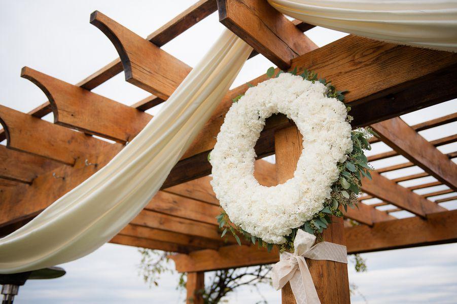 Flower Wreath | Virginia Farm Wedding Ceremony