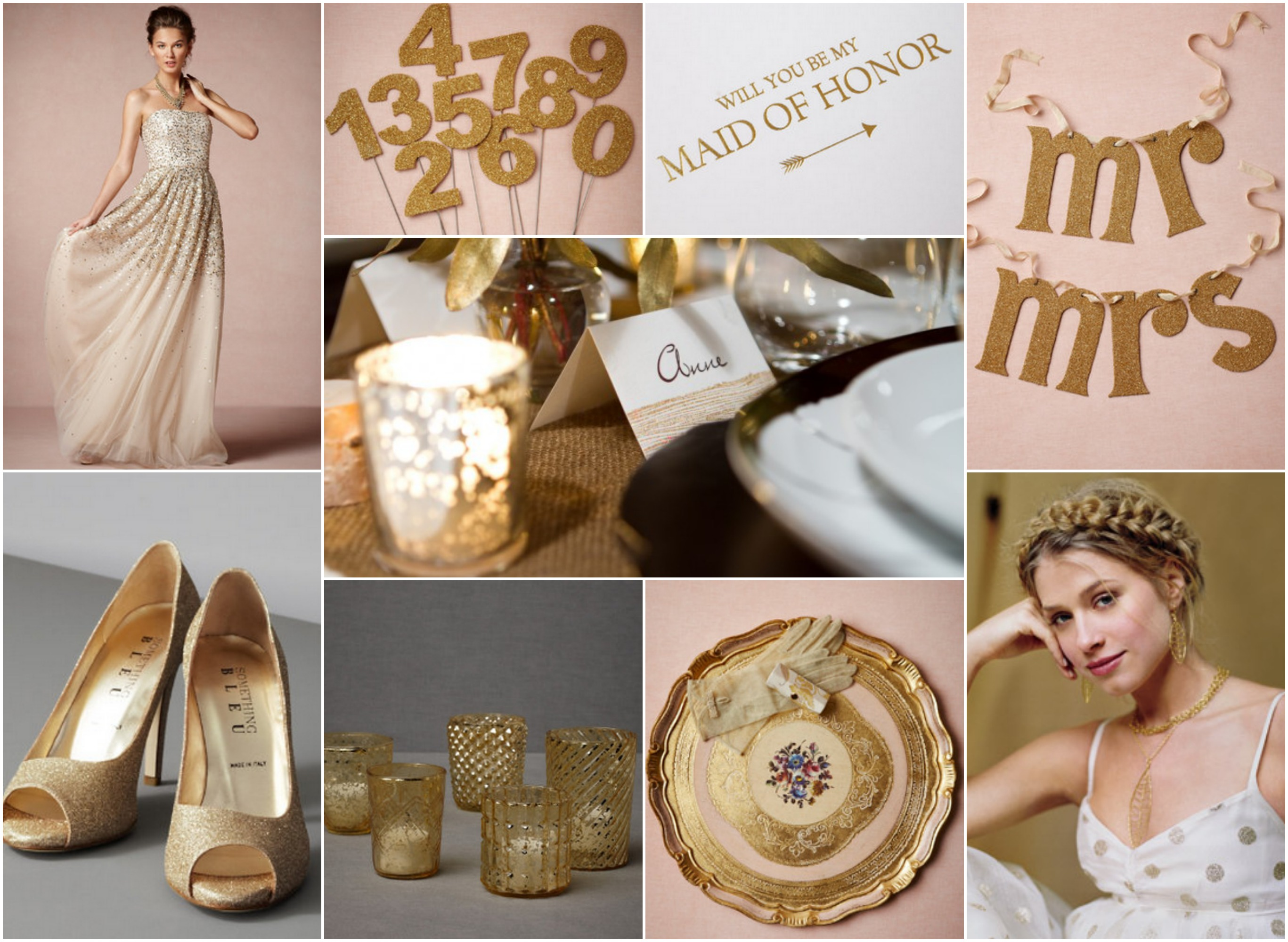 Rustic Gold Wedding Theme - Rustic Wedding Chic