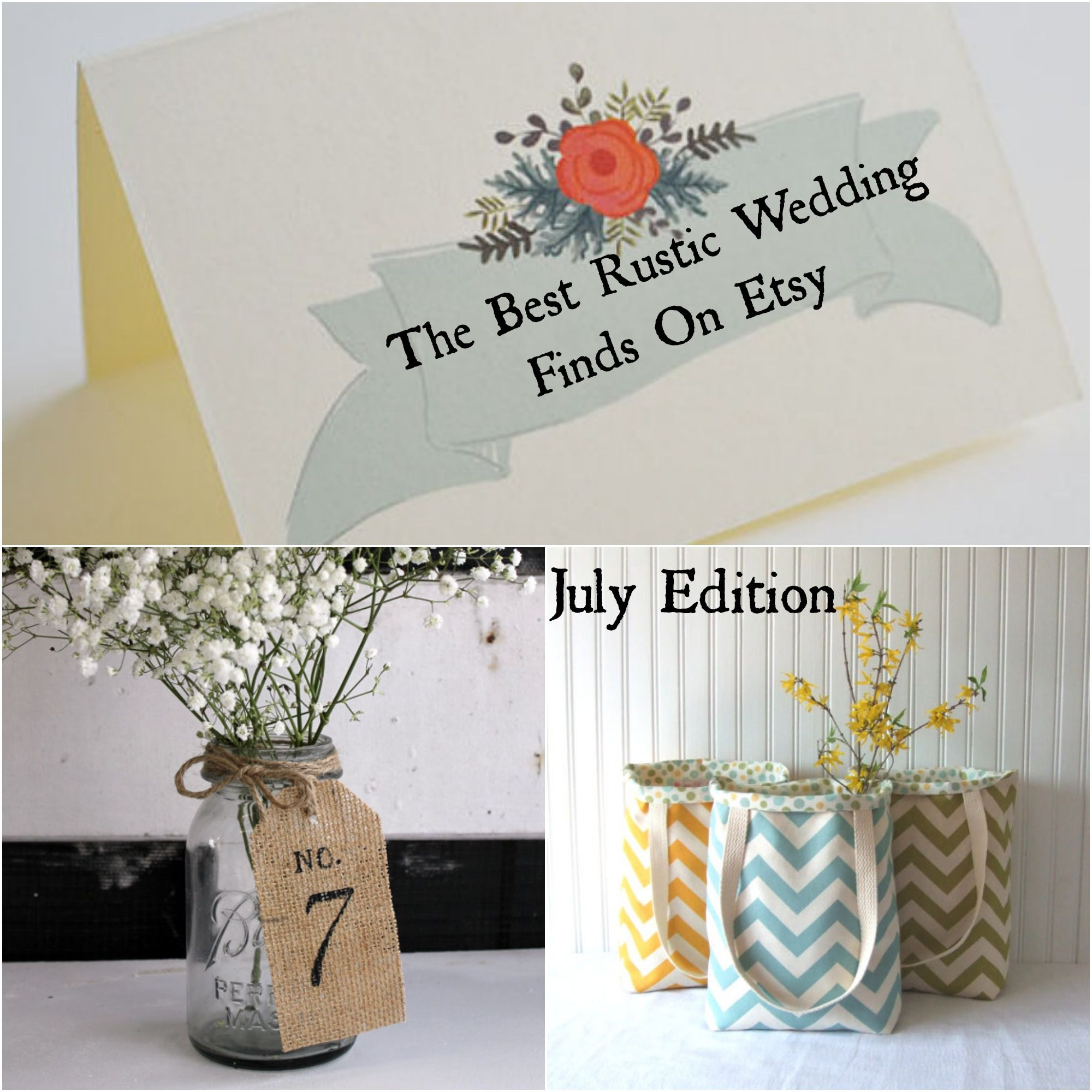 July Etsy Roundup - Rustic Wedding Chic
