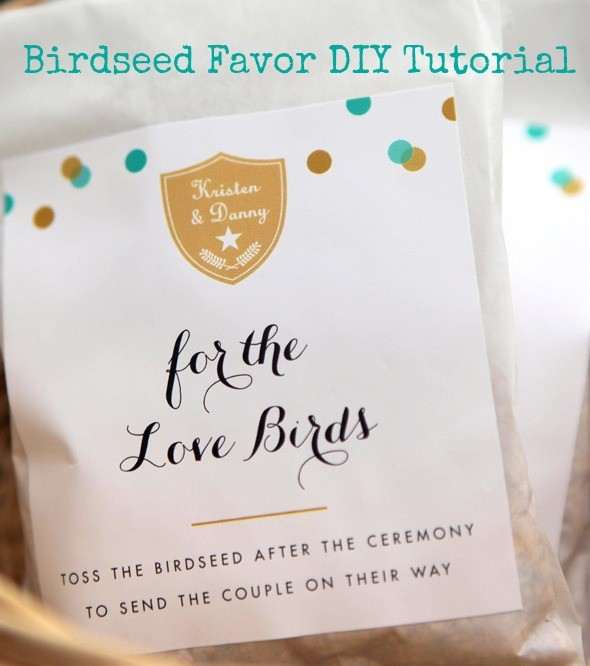 How to make birdseed favors for your wedding