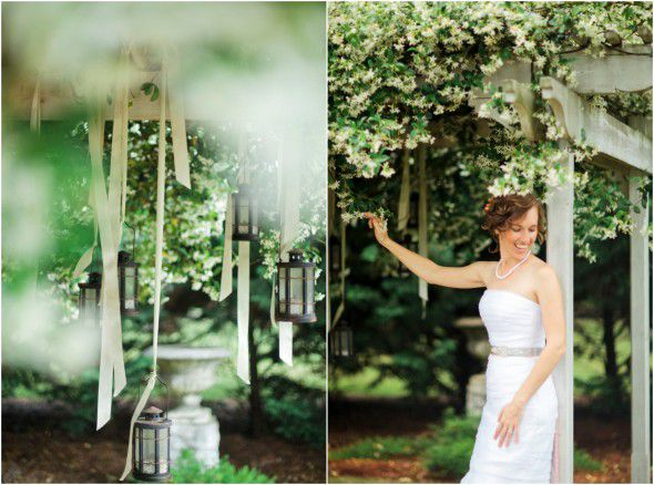 Lanterns Hanging Outdoor Wedding