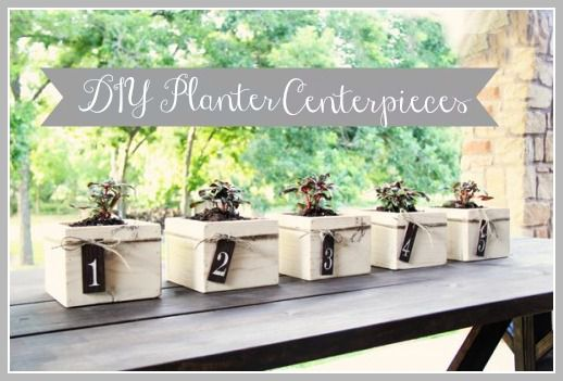 Diy planter box centerpieces rustic wedding chic planter centerpieces diy project looking for the perfect rustic wedding junglespirit Gallery