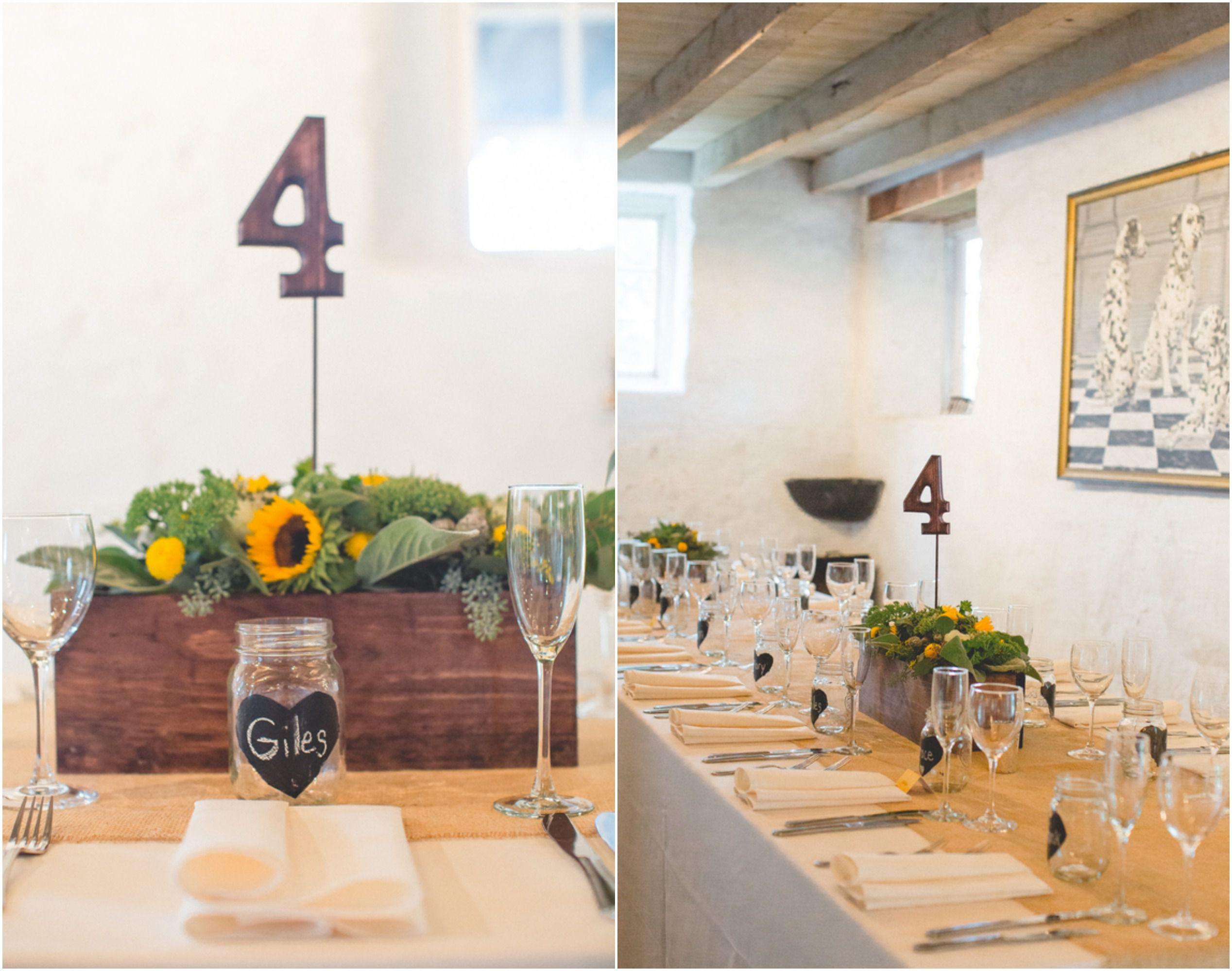Rustic Wedding Table Settings
