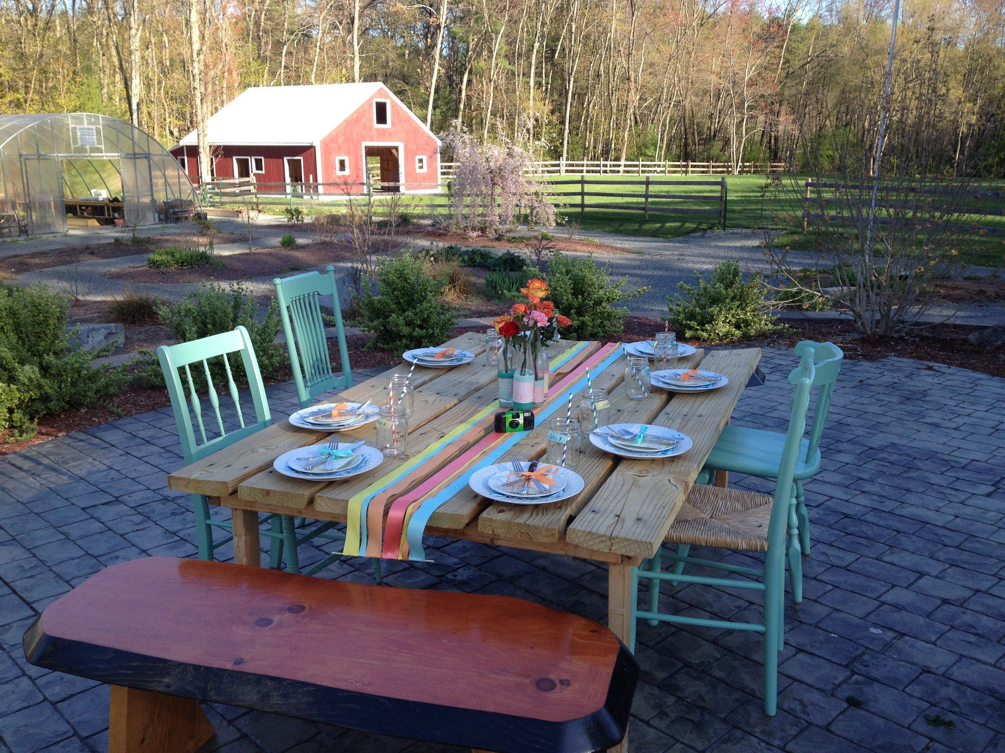 Table For Backyard Rehearsal Dinner