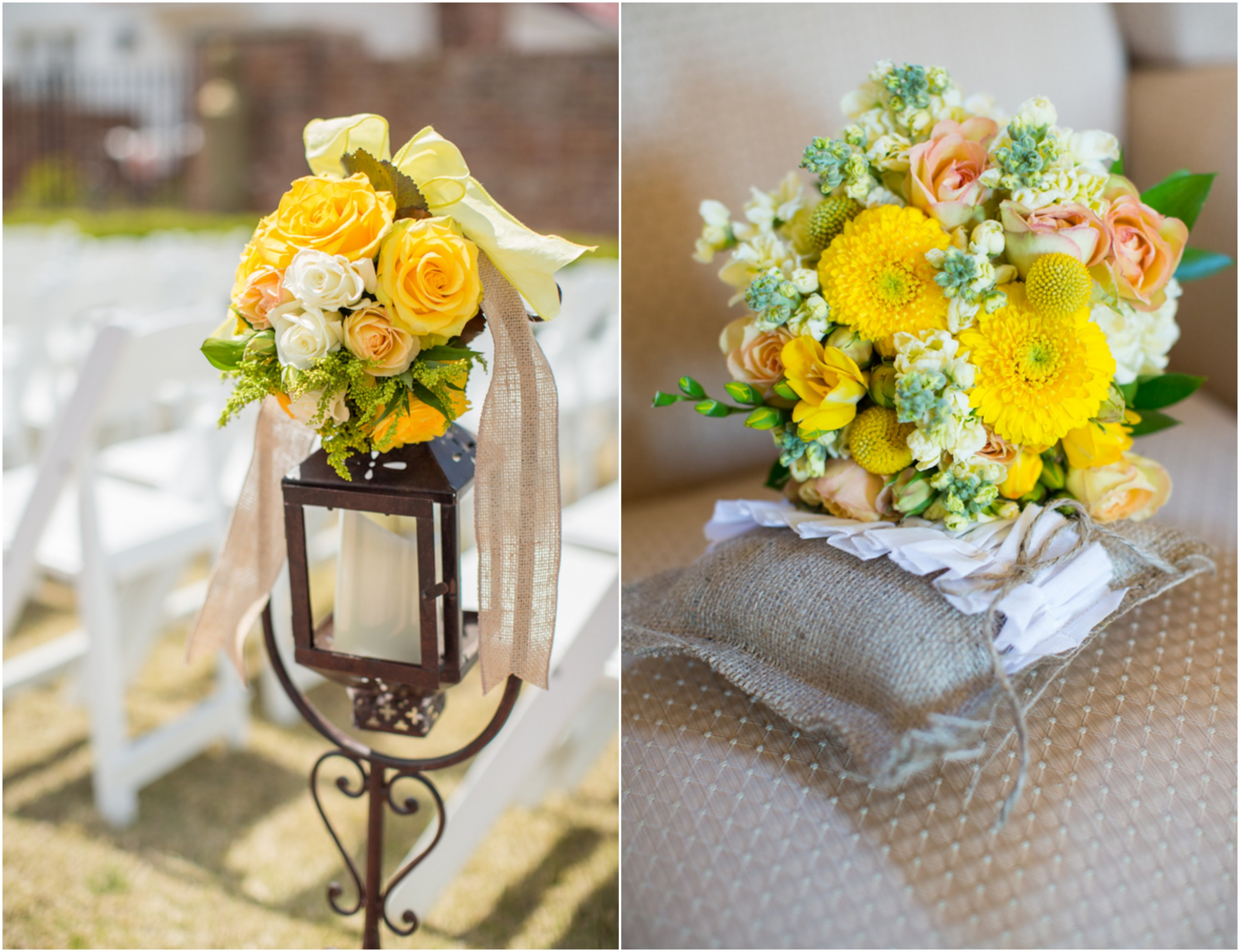 Yellow Flowers At Wedding : Country yellow themed wedding rustic chic