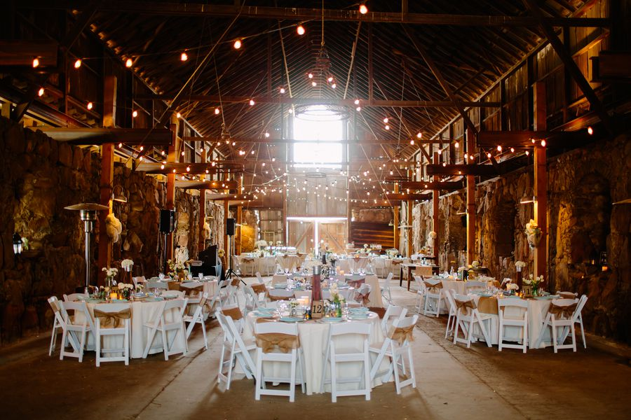 California barn wedding at santa margarita ranch rustic wedding chic california barn wedding book centerpieces book centerpieces burlap junglespirit Images