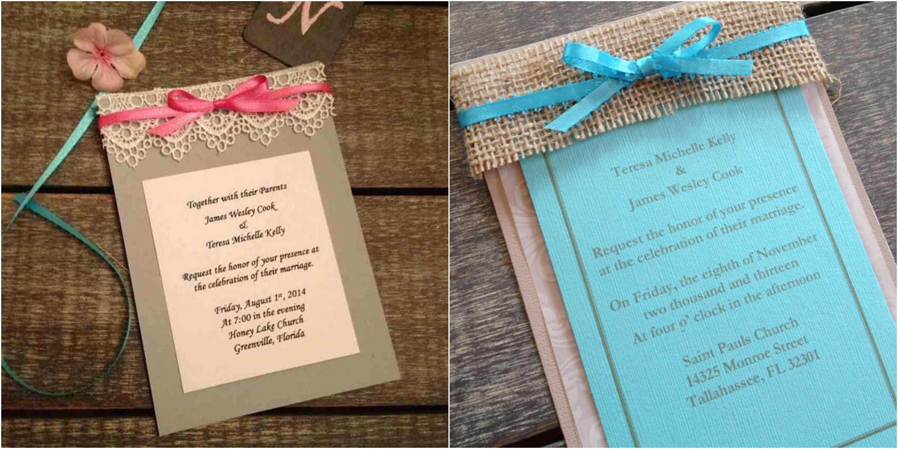 Rustic Wedding Invitations - Rustic Country Wedding Invites and Ideas