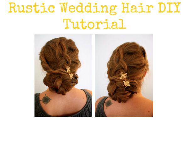 Rustic Wedding Hair Style