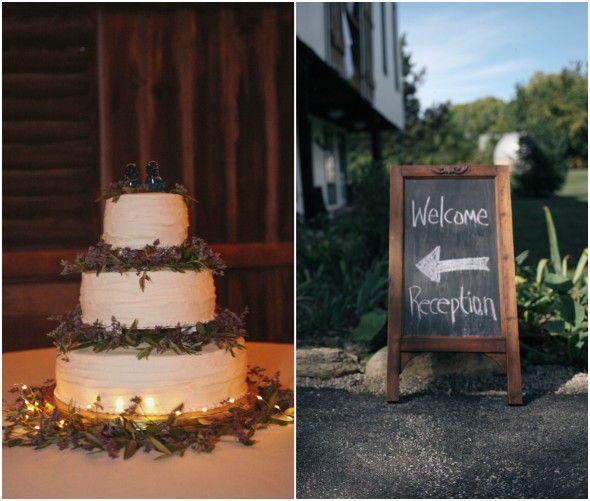 White Simple Wedding Cake