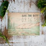 Vintage Style Rustic Wedding Save The Date