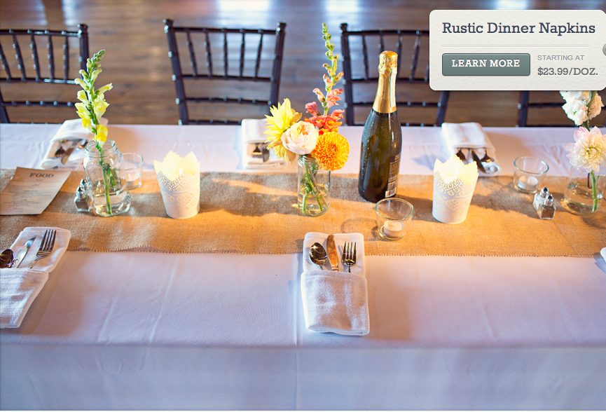 Napkins For A Rustic Wedding