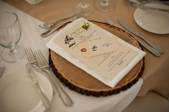 Wood Charger At Wedding