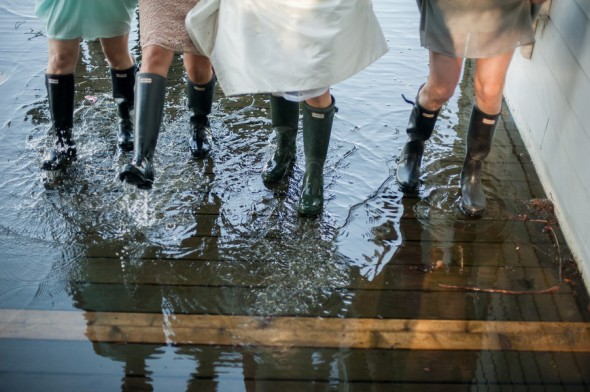 Wellies On Bridesmaids